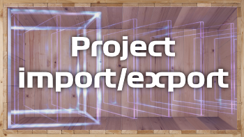 Project import/export