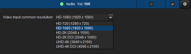 """You can individually scale in high quality the selected source to a common resolution by checking the """"scale"""" flag"""